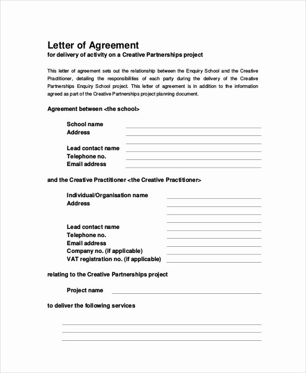 Master Lease Agreement Template Fresh 32 Sample Agreement Letters Word Pdf