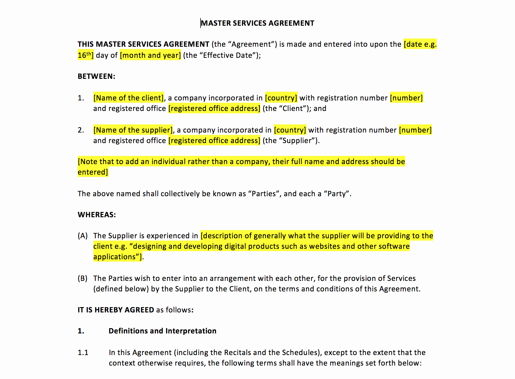 Master Lease Agreement Template Fresh Master Services Agreement Template – Uk Template