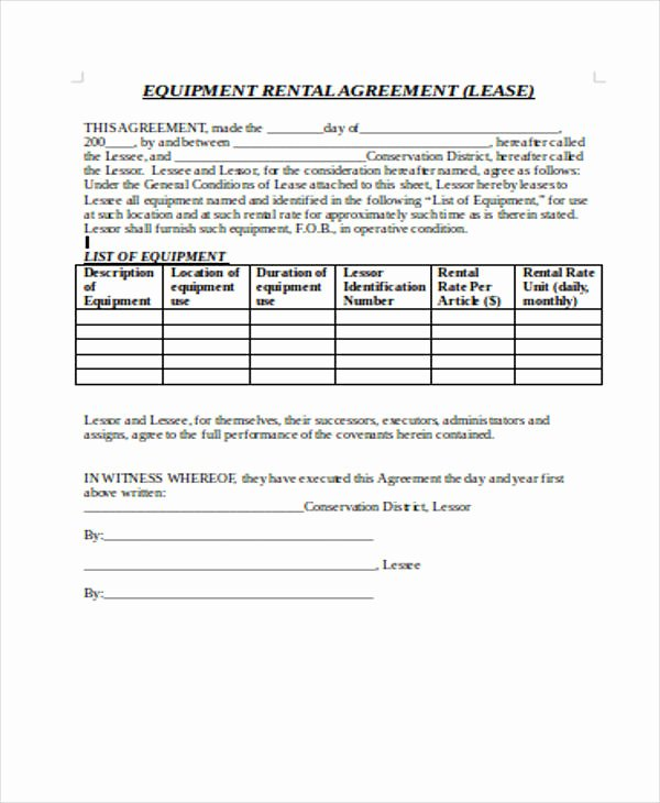 Master Lease Agreement Template New Free 20 Sample Rental Agreement forms