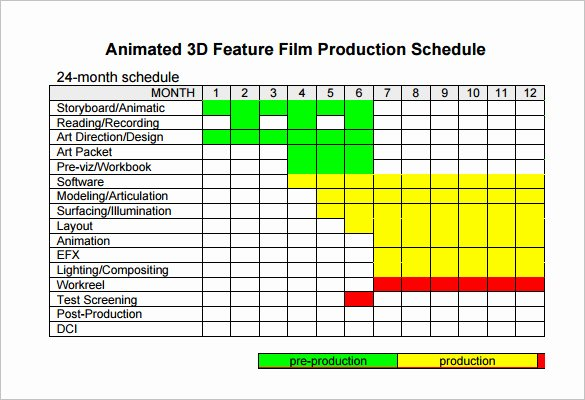 Master Production Schedule Template Excel Best Of Video Production Schedule Template