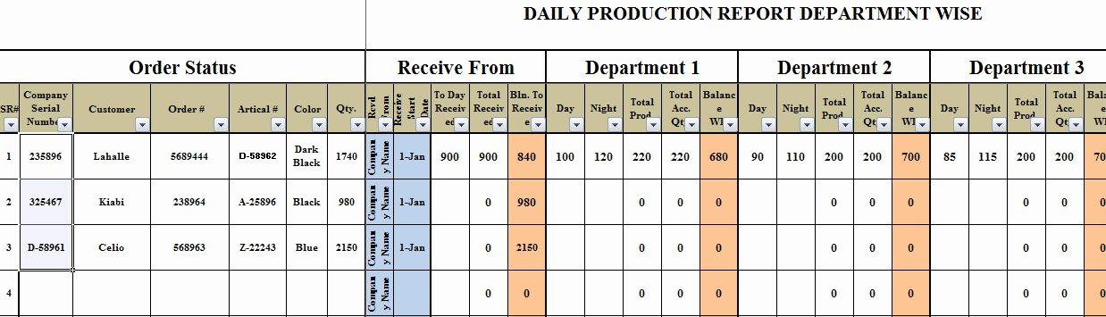 Master Production Schedule Template Excel Unique Excel Based Daily Production Planning Template Trainingable