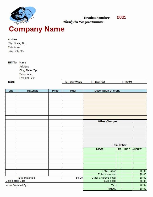Mechanic Work order Template Word Inspirational Mechanics Invoice