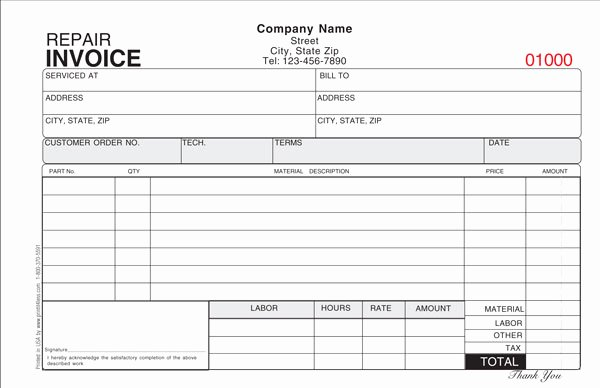 Mechanic Work order Template Word Lovely Repair Invoice Template