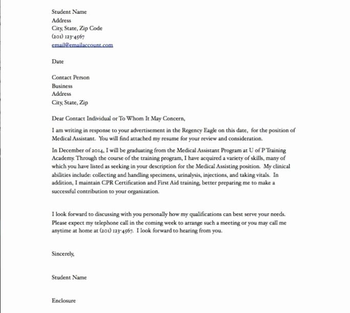 Medical assistant Cover Letter Templates Awesome A Cover Letter for A Medical assistant