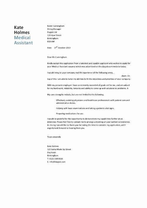 Medical assistant Cover Letter Templates Lovely Bud Template to Pay F Debt