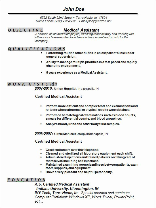 Medical assistant Resume Templates Best Of Free 13 Sample Resume Templates In Doc
