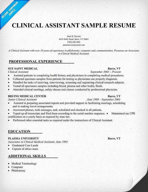 Medical assistant Resume Templates Elegant Sample Resumes for Medical assistant