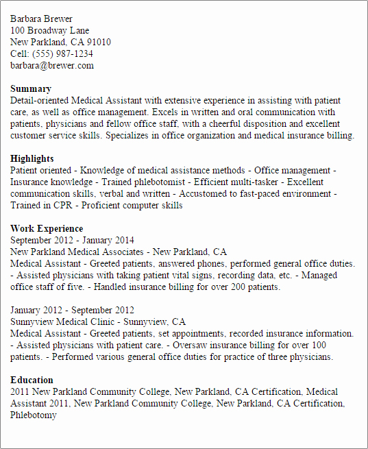 Medical assistant Resume Templates Luxury 1 Medical assistant Resume Templates Try them now