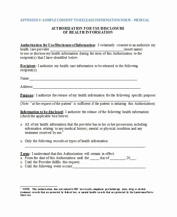 Medical Authorization form Template Beautiful 30 Medical Release form Templates Template Lab