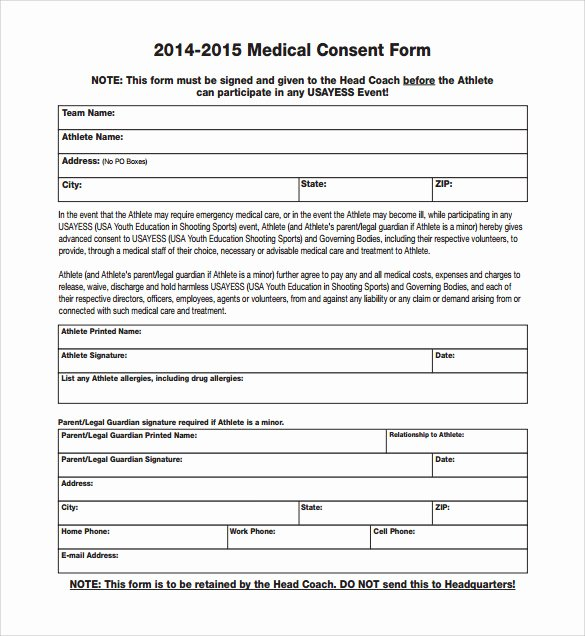 Medical Consent form Templates Lovely Sample Medical Consent form 13 Free Documents In Pdf