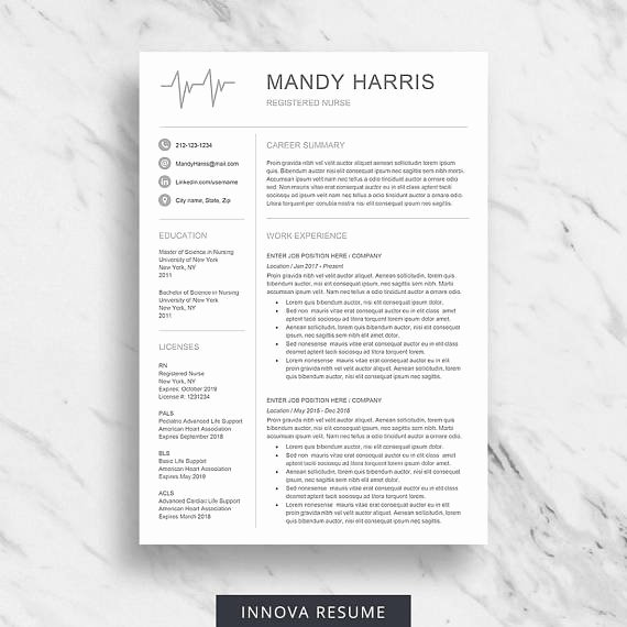Medical Cv Template Word Awesome Nurse Resume Template for Word