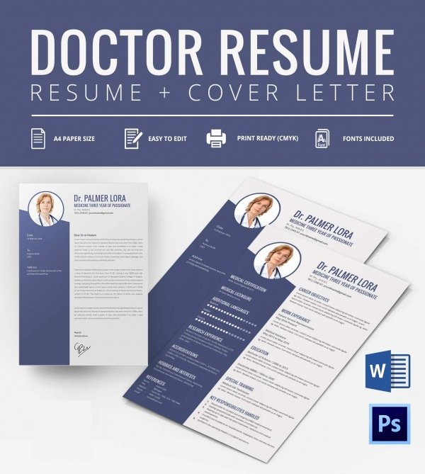 Medical Cv Template Word Inspirational Creative Resume Template 79 Free Samples Examples