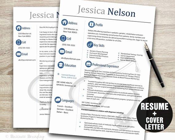 Medical Cv Template Word Unique Medical Resume Templateinstant Download Medical Resumeresume