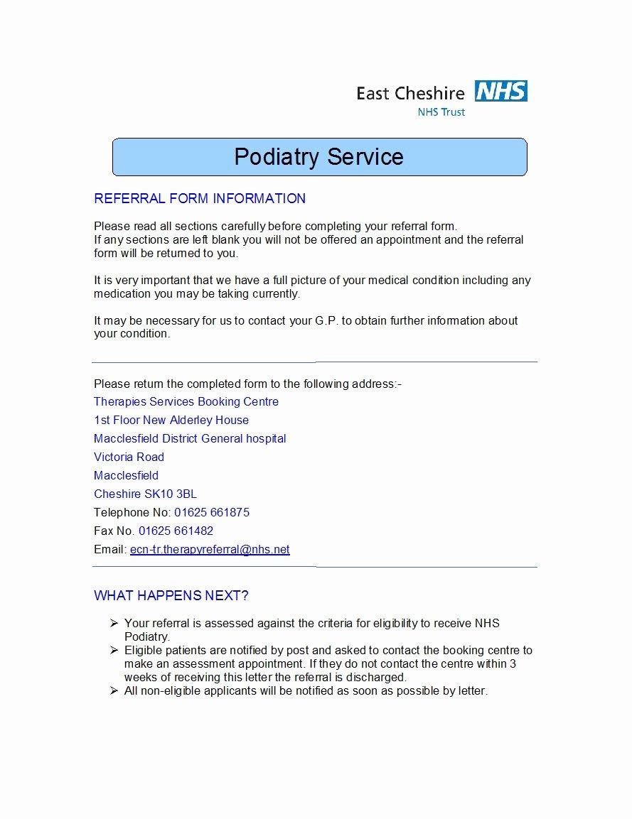 Medical Referral forms Template Elegant 50 Referral form Templates [medical & General] Template Lab