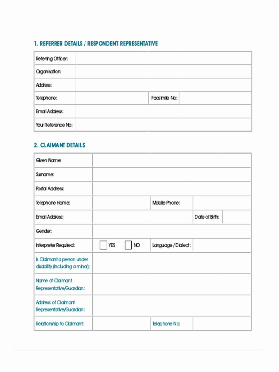Medical Referral forms Template Fresh Medical Referral form 8 Free Documents In Word Pdf