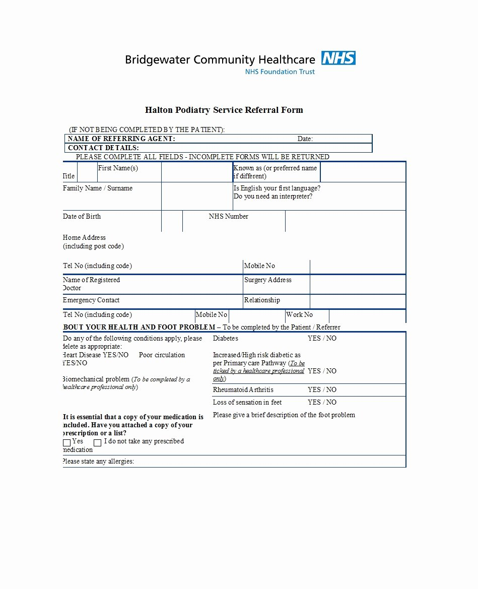 Medical Referral forms Template New 50 Referral form Templates [medical & General] Template Lab
