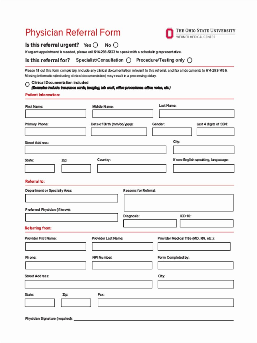 Medical Referral forms Template New Medical Referral form 8 Free Documents In Word Pdf
