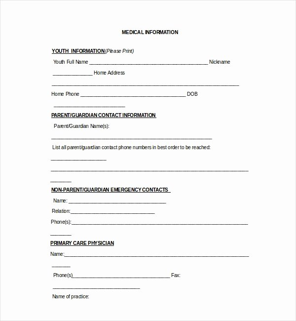 Medical Release forms Template Unique 20 Sample Medical Release forms