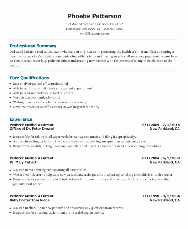 Medical Resume Template Free Best Of 10 Medical Administrative assistant Resume Templates