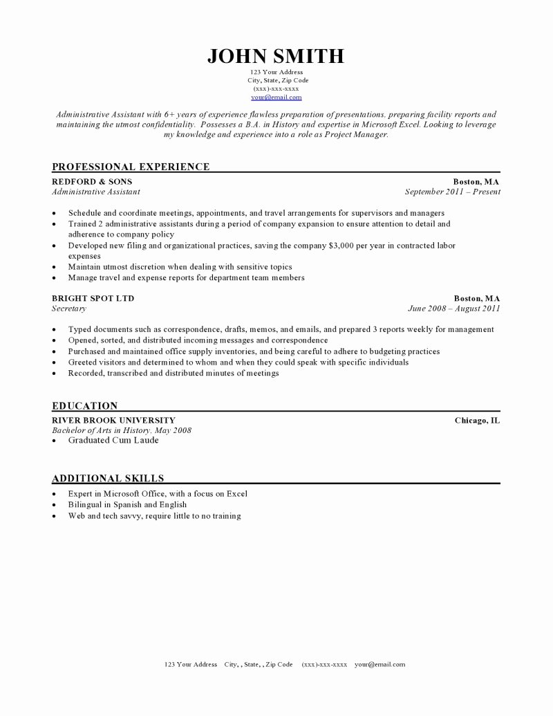 Medical Resume Template Free Unique Resume Templates