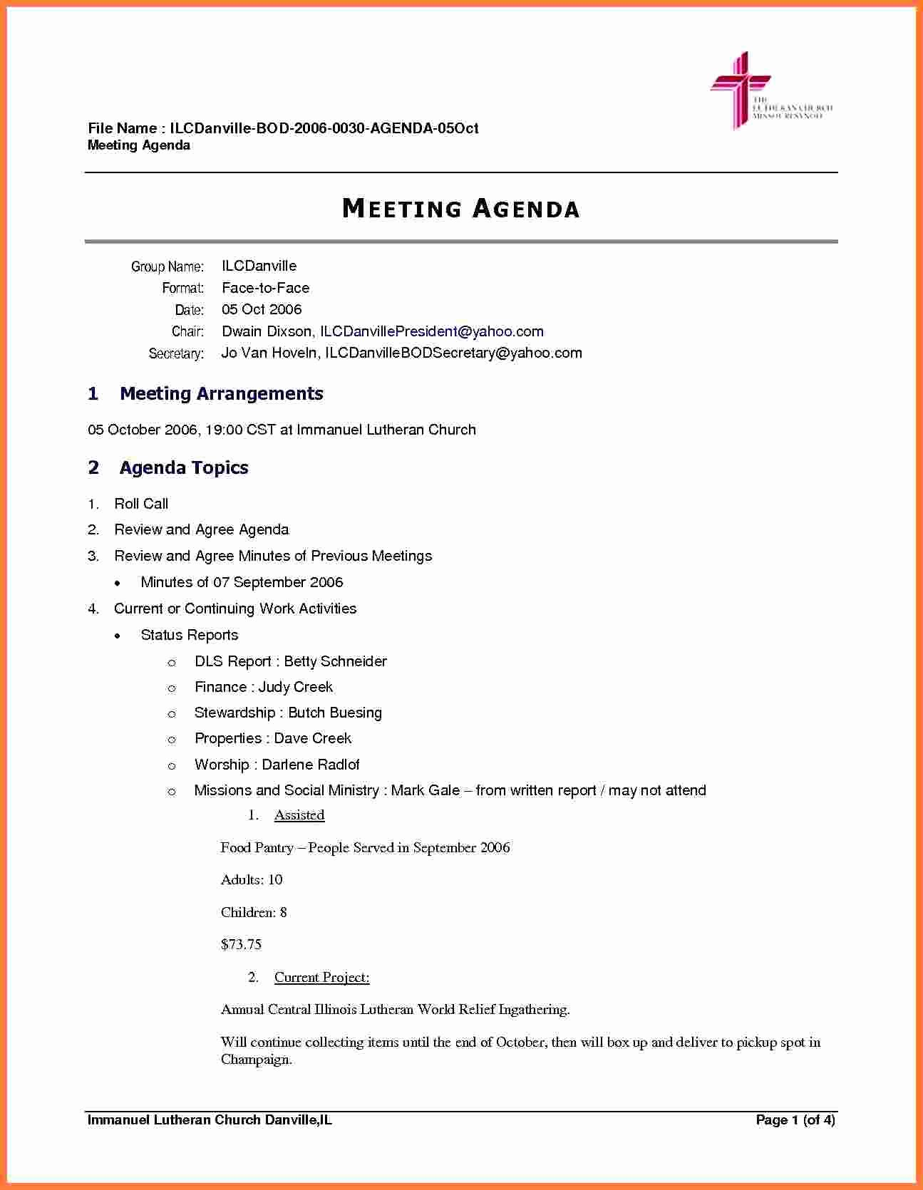 Meeting Agenda Template Word Awesome 5 Board Meeting Agenda