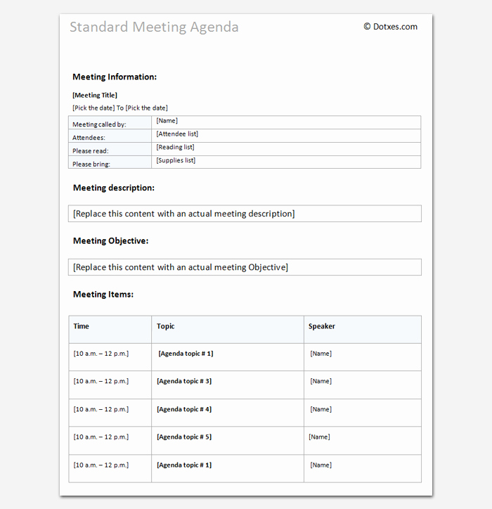 Meeting Agenda Template Word Beautiful Agenda Outline Template 10 for Word Excel Pdf format