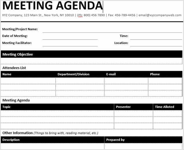 Meeting Agenda Template Word Best Of 15 Best Meeting Agenda Templates for Word