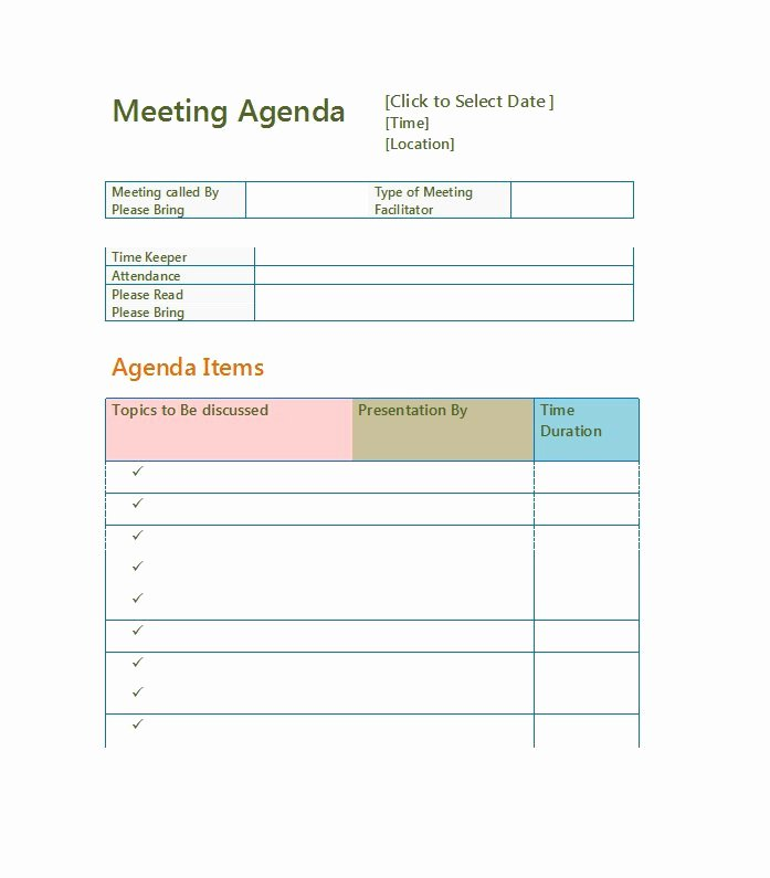 Meeting Agenda Template Word Best Of 51 Effective Meeting Agenda Templates Free Template
