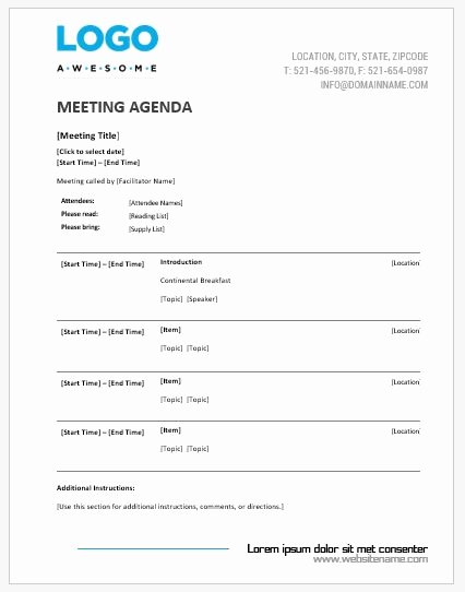 Meeting Agenda Template Word Luxury Meeting Agenda Templates Ms Word