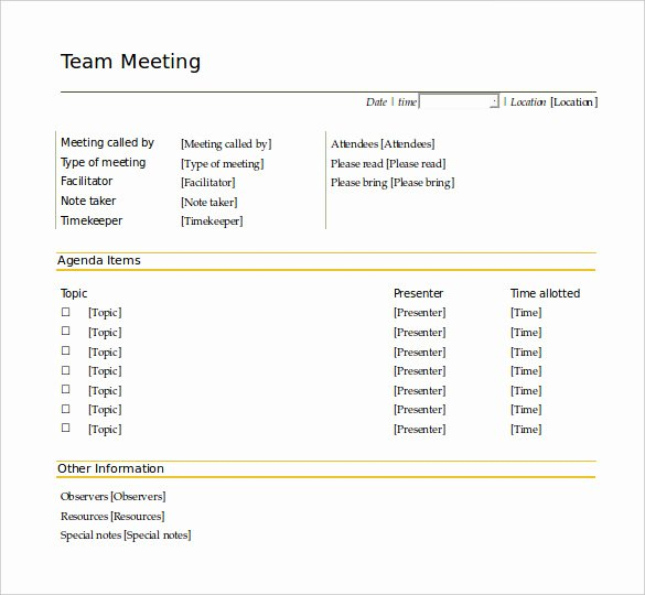 Meeting Agenda Template Word New 46 Brilliant Samples Of Agenda Template Word Thogati