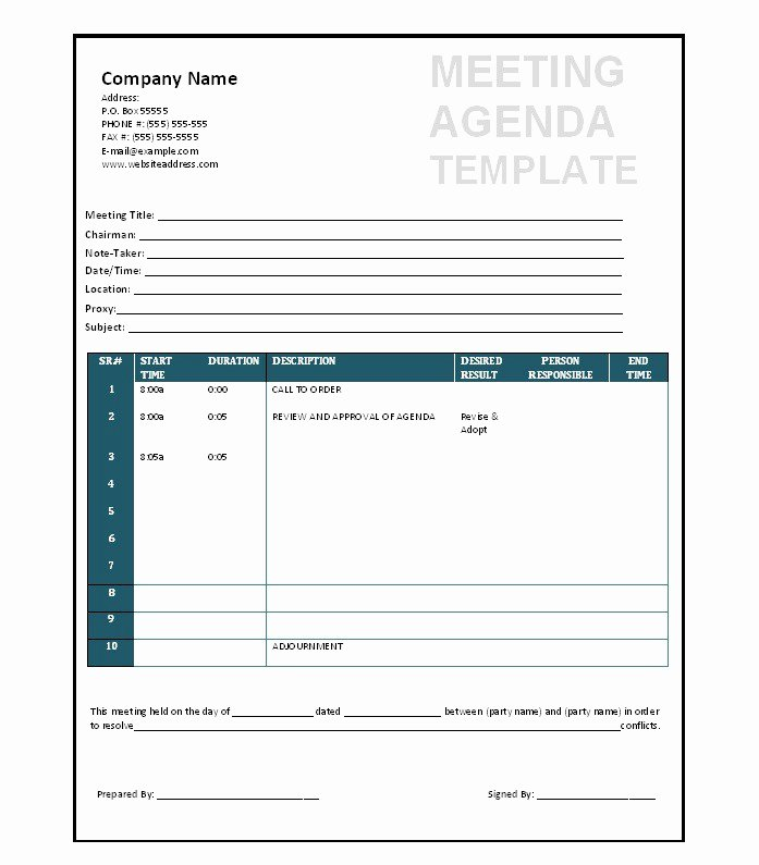 Meeting Agenda Template Word New 51 Effective Meeting Agenda Templates Free Template