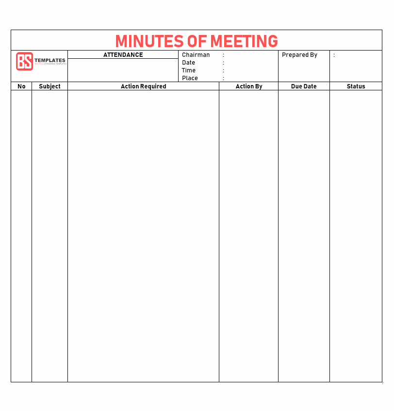 Meeting Minute Template Excel Beautiful Minutes Of Meeting Template – 16 Excel Word