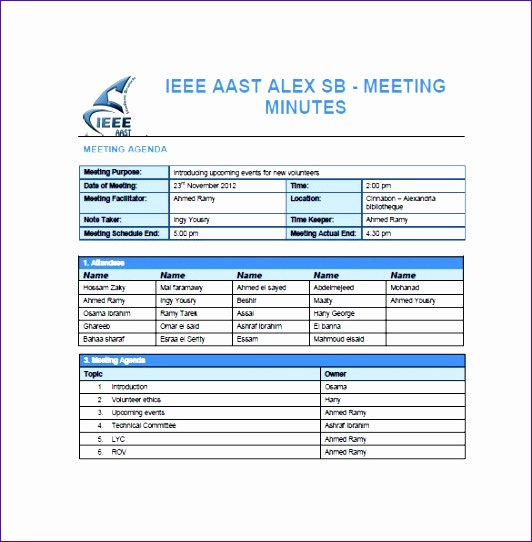 Meeting Minutes Template Excel Best Of 5 Project Meeting Minutes Template Excel Exceltemplates