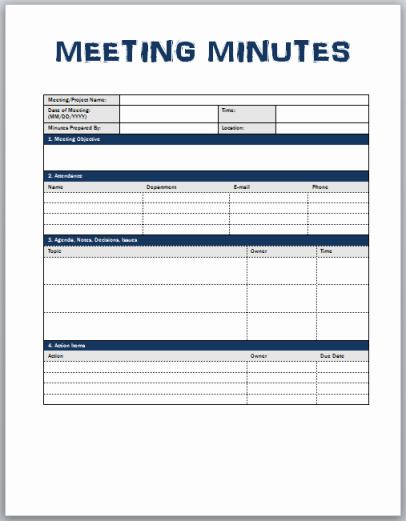 Meeting Minutes Template Excel Best Of Minutes Meeting Template