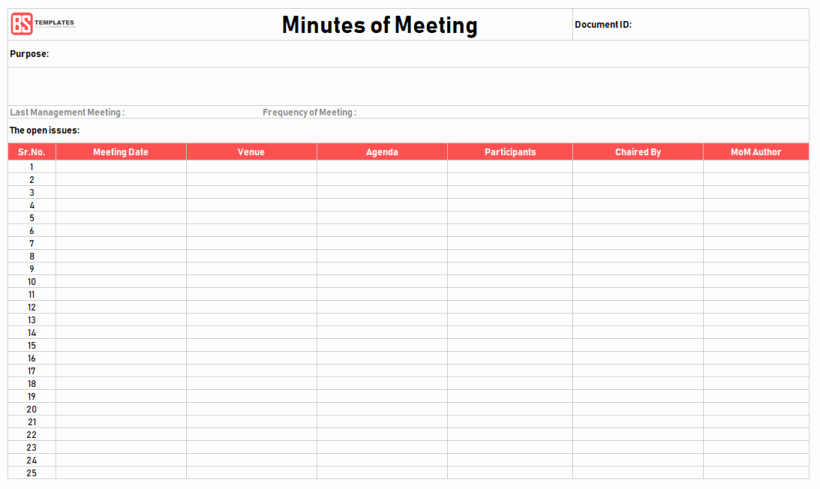 Meeting Minutes Template Excel Best Of Minutes Of Meeting Template – 16 Excel Word