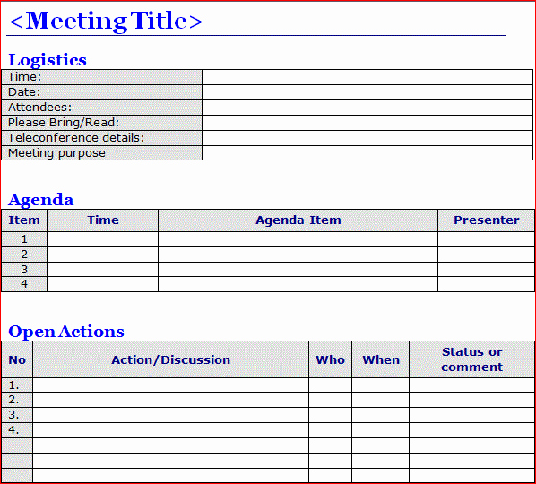 Meeting Minutes Template Excel Inspirational Minutes Of Meeting Template Word Projectemplates