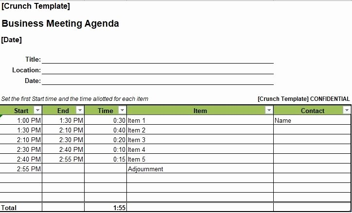 Meeting Minutes Template Excel Lovely Business Meeting Agenda Template Excel