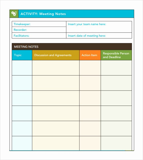 Meeting Minutes Template Excel Lovely Meeting Agenda Template Excel