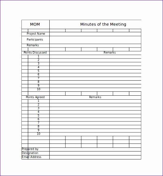 Meeting Minutes Template Excel Luxury 8 Meeting Minute Template Excel Exceltemplates