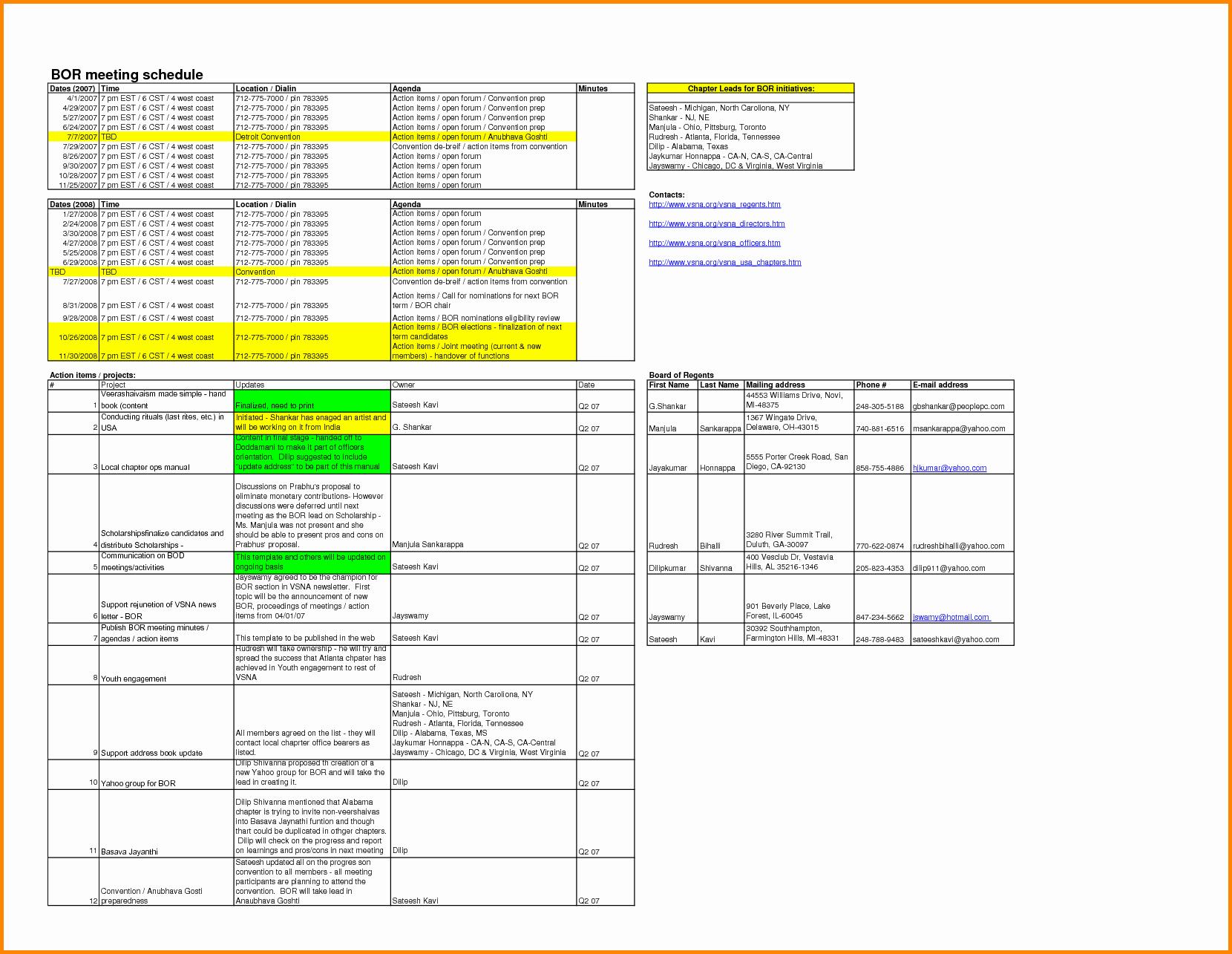 Meeting Minutes Template Excel Luxury 8 Meeting Minutes Template Excel