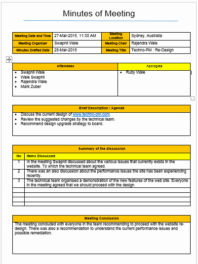 Meeting Minutes Template Excel Luxury Meeting Minutes Template Excel and Word Free Download