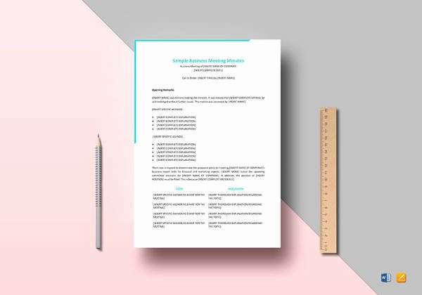 Meeting Minutes Template Excel New Meeting Minutes Templates 12 Free Word Excel Samples