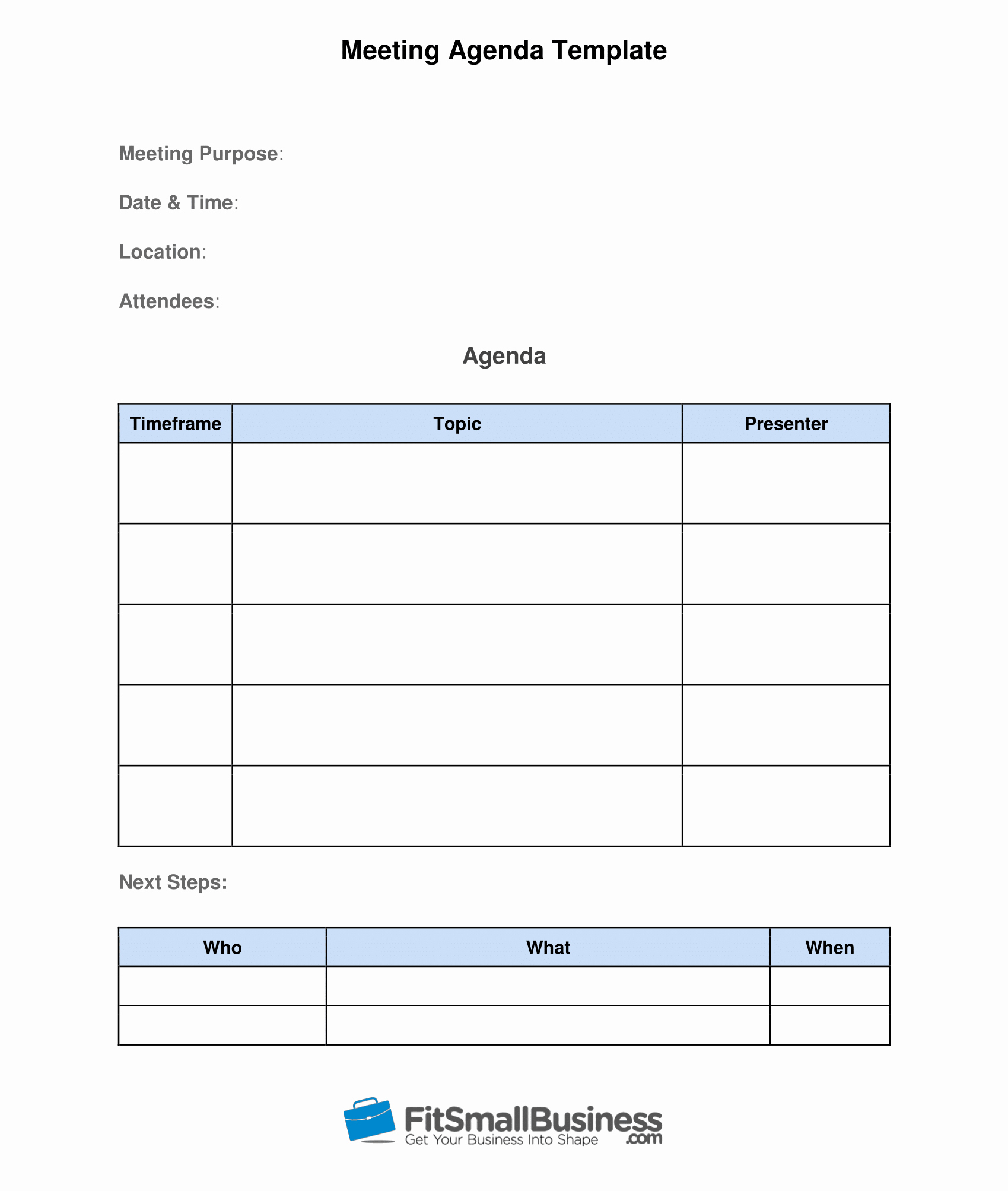 Meeting Notes Template Free Awesome How to Run Effective Meetings In 10 Steps [ Free Template]