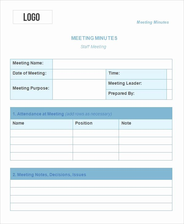Meeting Notes Template Free Best Of Meeting Minutes Templates