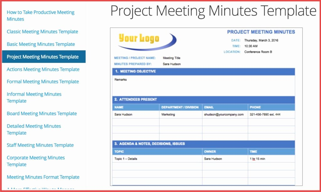 Meeting Notes Template Free Elegant How Minutes Meeting Can Help You Improve Free