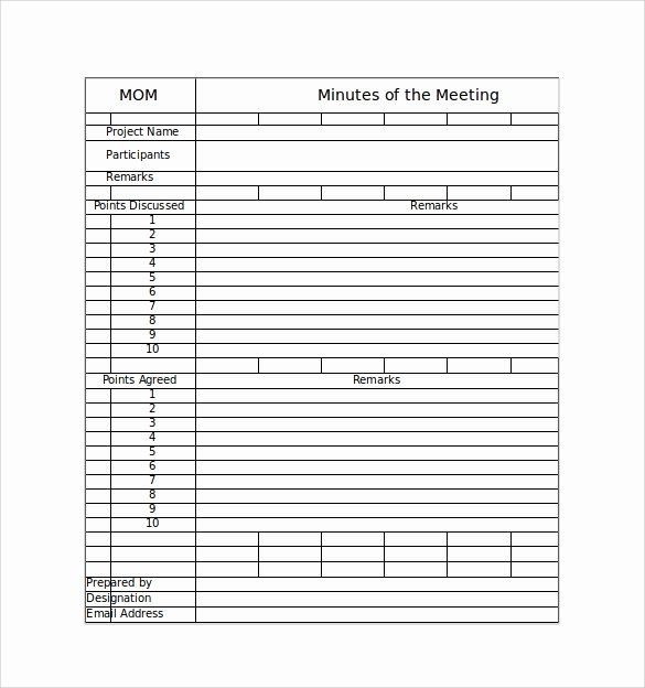 Meeting Notes Template Free Fresh Free 44 Sample Meeting Minutes Templates In Google Docs