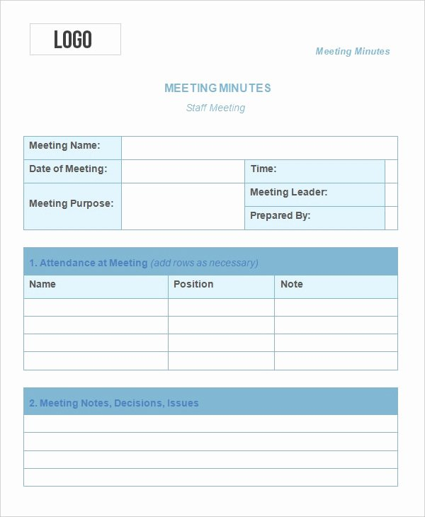 Meeting Notes Template Free Lovely 13 Meeting Minute Templates Free Sample Example