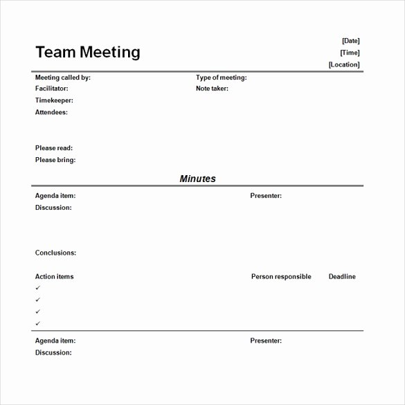 Meeting Notes Template Free New 16 Microsoft Word Minute Templates Free Download