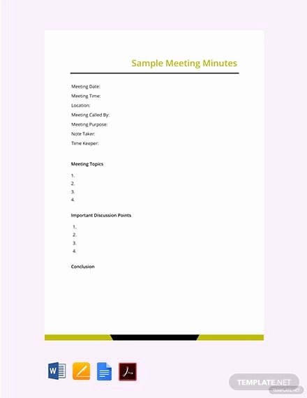 Meeting Notes Template Free New 24 Meeting Minutes Templates Pdf Google Docs Apple