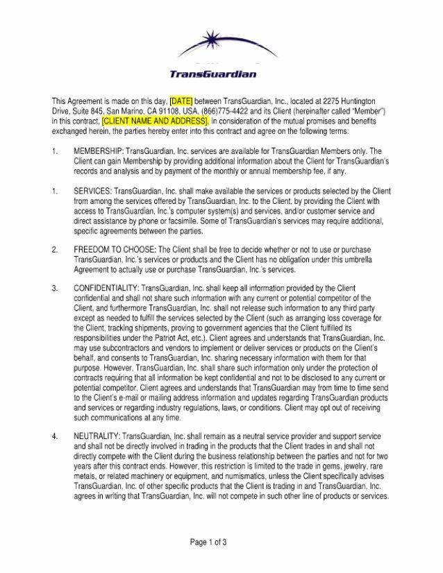 Membership Agreement Template Free Elegant Transguardian Sample Member Agreement